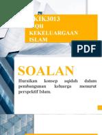 Fiqh Kekeluargaan Islam Tutorial 1