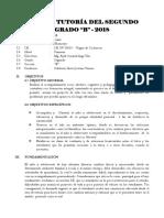 Plan de Tutoría 2018 segundo grado de primaria