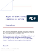 Argyris and Schon's Theory on Congruence and Learning