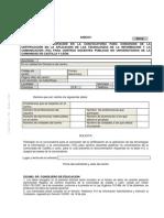 Formulario certificación aplicación TIC