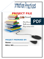 PROJECT FILE School Mangement System