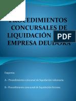 4.- Liquidacion de Empresa Deudora