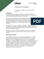 U1. Introducción a la investigación y formulación de hipótesis