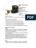 Manual de Instrucciones SQ8