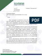Surat Pemberitahuan Rencana Implementasi Close Payment System