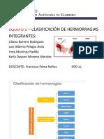 Clasificacion de Hemorragias