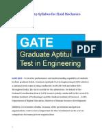 Gate2019 Syllabus for Fluid Mechanics