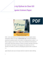 Python in Class Xii Computer Science