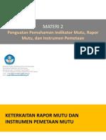 Materi 2- Indikator, Instrumen Dan Pengolahan Data Mutu