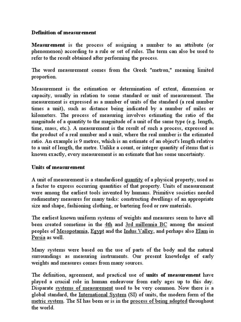 Definition of measurement units of measurement measurement falaconquin
