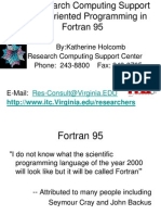 Brief Introduction to the Fortran 90 Programming Language