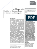 Conceptual Problems with studies of the social cost of alcohol and drugs