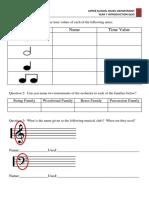 Year 7 Introduction Quiz Music
