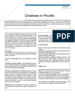 Working With the Database in Moodle