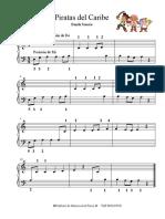 Piratas Del Caribe - piano basico
