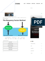 The Buoyancy Factor Method