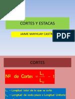 Cortes y estacas