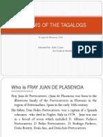 Juan de Placencia's Writings