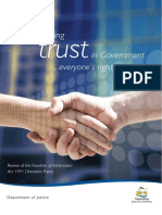 Strengthening Trust in Government - Everyones Right to Know