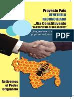 Proyecto País Venezuela Reconciliada Vía Constituyente - Rebelión de las Regiones