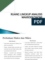 Ruang Lingkup Manajemen Makroekonomi