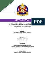 kertas kerja Kursus Nuqaba 2019 Asrama