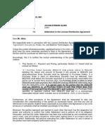 Addendum Letter