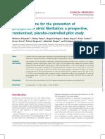 NAC Preventing Postop Atrial Fibrillation