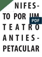Manifesto Por Um Teatro Antiespectacular