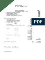 Chapel Financial Report