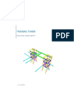 On Site Training Tower Structural Design Report