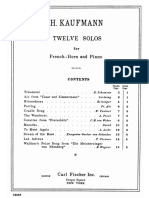Twelve Solos for French Horn and Piano Score