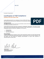 Certification of VGP Compliance