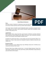 Contoh Teks Eksposisi Fakta Hukum Di Indonesia