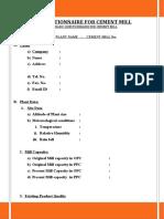 Cement Grinding Unit -Questionnaire