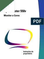 Manual do Monitor Sansung 550V em portugues