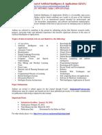 International Journal of Artificial Intelligence & Applications (IJAIA)