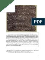 Senatusconsultum de Bacchanalibus. Texto
