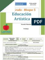 Plan 3er Grado - Bloque 5 Educación Artística.doc