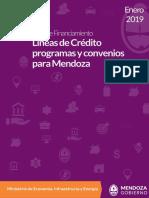 Guía de Financiamiento Mendoza - Enero 2019