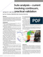 Transfer chute analysis – current practices involving continuum, DEM and practical validation