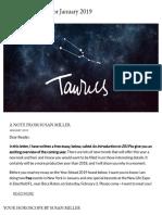 Taurus Horoscope for January 2019
