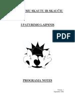 Prityrusiu Skautu-Ciu I Patyrimo Programa