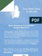 Cara Blokir Situs Di Mikrotik