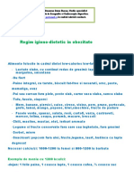 Regim Igieno - Dietetic - Obezitate