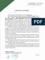 Comunicat Presa Adriana Cotel