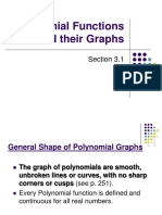 3.1 Graphs of Polynomial Functions