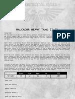 40K - Malcador Tank v1