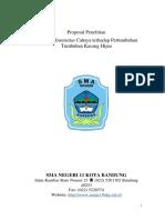 Proposal Penelitian Pertumbuhan & Perkembangan (Pengaruh Intensitas Cahaya Terhadap Pertumbuhan Kacang Hijau)