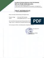 Akreditasi Universitas Pgri Semarang 2016 2021-1